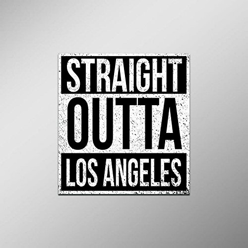 Straight Outta Los Angeles Vinyl Decal Sticker | Cars Trucks Vans SUVs Laptops Walls Windows Cups | Full Color | 4.5 X 5 Inches | - Car Los Decal Angeles