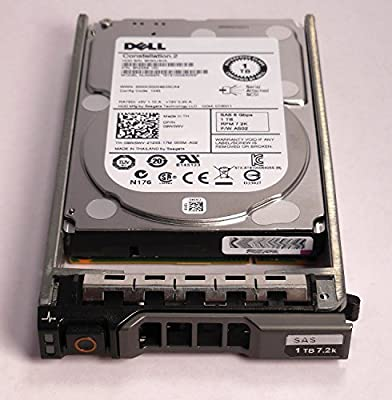 """9W5WV - DELL ENTERPRISE CLASS 1TB 7.2K SAS 2.5"""" 6Gbps HDD W/G176J TRAY/CADDIE ST91000640SS - Compatible with the following systems PowerEdge M610, M610x, M710, M710HD, R320, R420, R610, R710, R715, R810, R815, R820, R910, T610, T710, and PowerVault MD1120"""