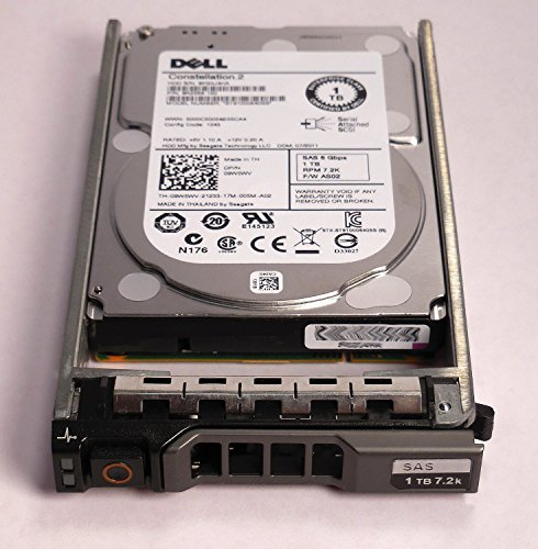9W5WV - DELL ENTERPRISE CLASS 1TB 7.2K SAS 2.5'' 6Gbps HDD W/G176J TRAY/CADDIE ST91000640SS - Compatible with the following systems PowerEdge M610, M610x, M710, M710HD, R320, R420, R610, R710, R715, R810, R815, R820, R910, T610, T710, and PowerVault MD1120 by Dell