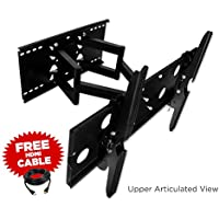 Mount-It! 32 36 67 40 42 46 50 52 55 LCD Compatible Articulating, Swivel, Pivot, TV Wall Mount Bracket & Free HDMI Cable