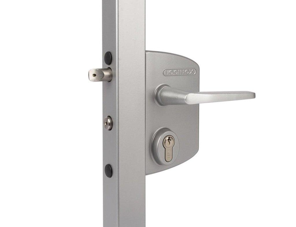 Silver Swing Gate Lock Industrial Style gate lock by LOCINOX / Locinox LAKQ U2 Industrial Lock