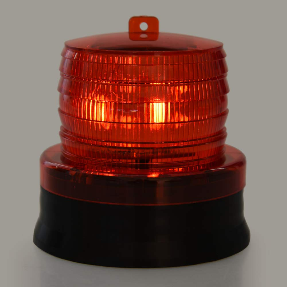 Red Famus 2V Solar Flashing Strobe Beacon Emergency LED Warning Light Car Auto Lamp Emergency Light