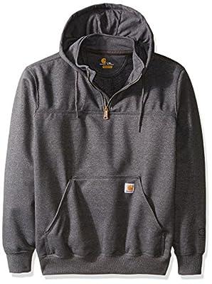 Carhartt Men's Big & Tall Rain Defender Paxton Heavy Weight Hooded Zip Mock Sweatshirt