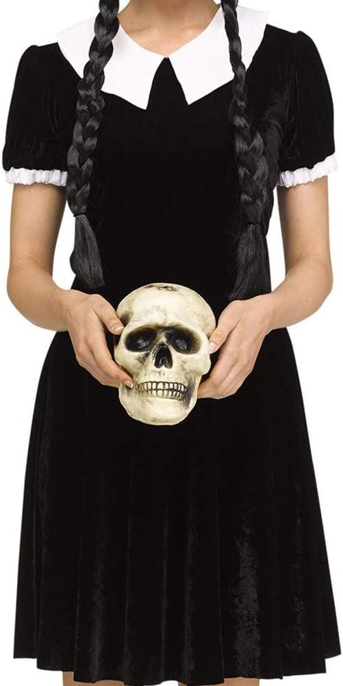 Fun World Disfraz de niña gótica Estilo miércoles Addams para ...