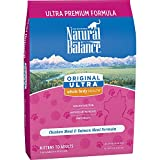 Natural Balance Original Ultra Whole Body Health Dry Cat Food, Chicken Meal & Salmon Meal Formula, 15-Pound