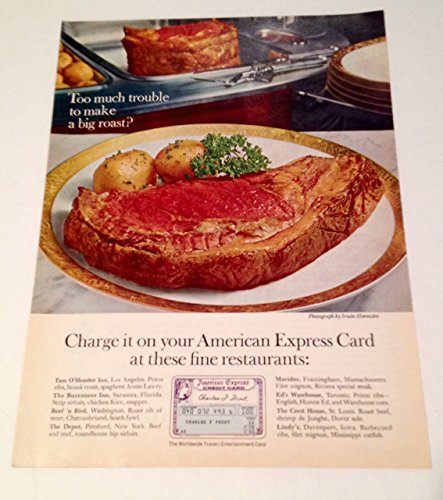 - 1967 American Express Big Roast Magazine Print Advertisement