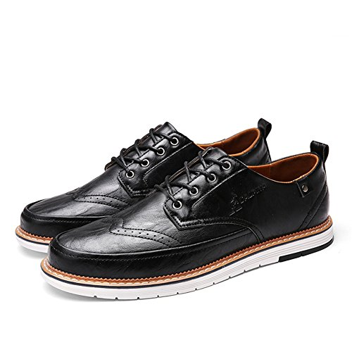 Casual Grey C XUE leggero Primavera PU Traspirante formale Shoe Black da Bianco Scarpe Brown Lace Pure Pure Business lavoro up uomo Scarpe Estate Business Pure qOqzSrg
