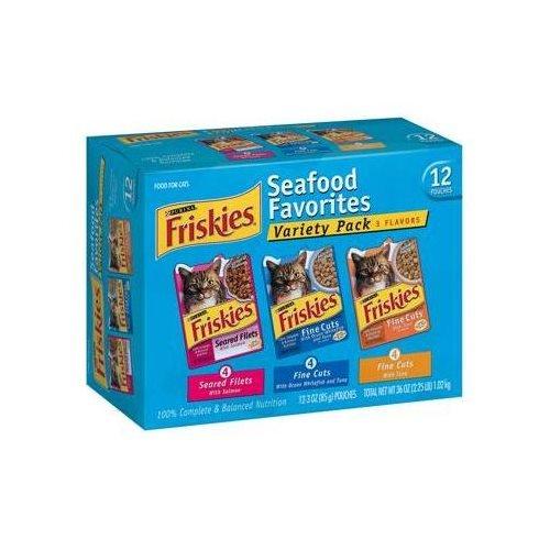 Friskies Cat Food Seafood Favorites Variety Pack 36 OZ (Pack of 18) by Friskies