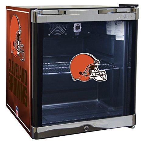 Glaros Officially Licensed NFL Beverage Center / Refrigerator - Cleveland Browns