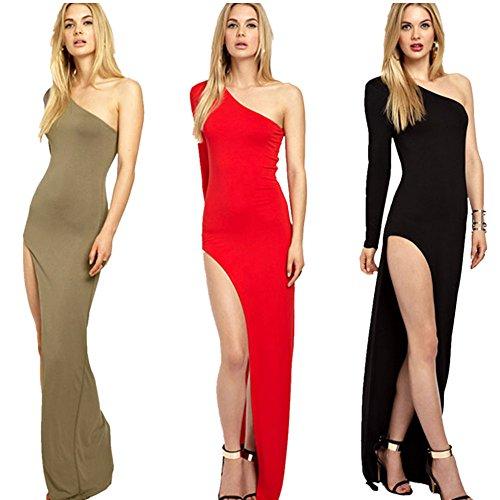 Moda Mujer Prom Ball vestido de fiesta vestido de noche formal vestido largo Black
