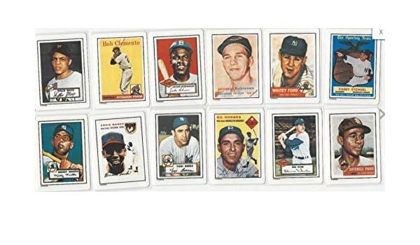 1990 Hamilton Collection Porcelain Complete 12 Card Baseball