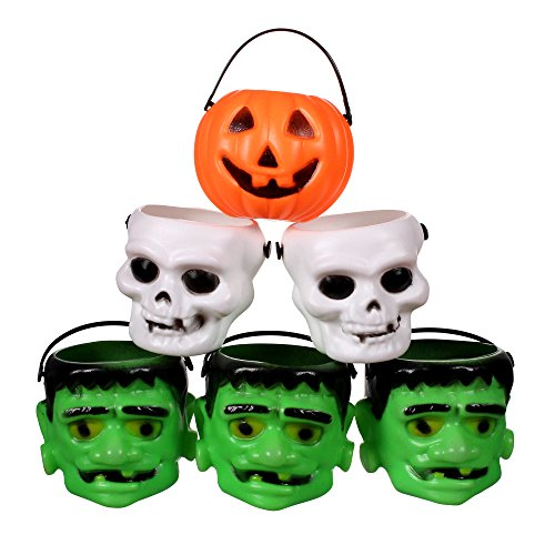 Mini Halloween Pumpkin Candy Bowl Holder Decor for Halloween Party (12 (Party City Halloween Supplies)