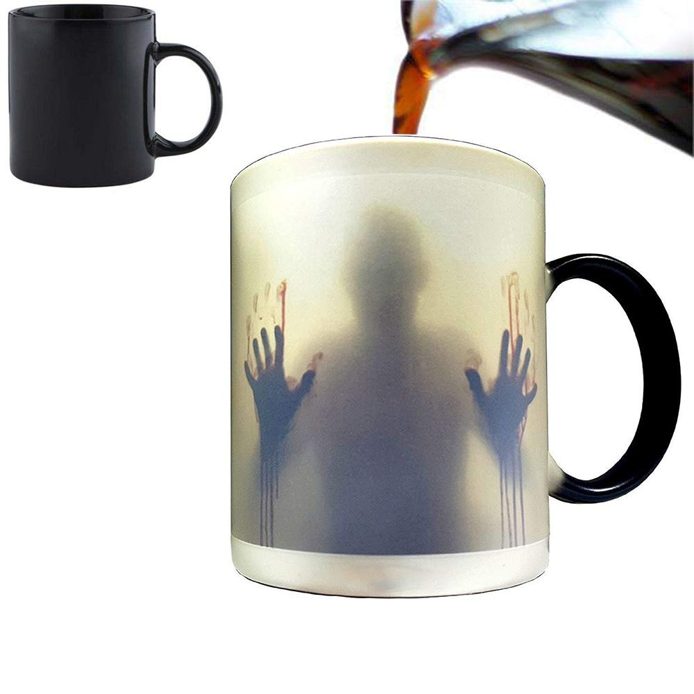 Dead Custom Heat Sensitive CupCupsBlack12 Coffee Milk Hot Orama Mug1051â The 5â Cold Ceramic Tea Changing Walking Color Cm wNm0vn8O