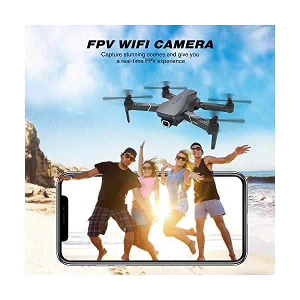 EACHINE E520 Drone 4K Telecamera 2.4GHz Pieghevole Drone con WiFi FPV App Mobile Controllo Grandangolare 3 spesavip