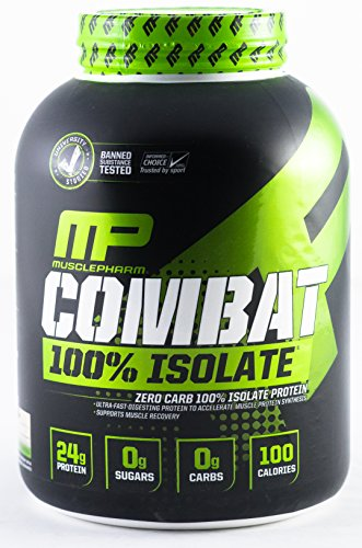 MusclePharm 100% Whey Isolate, Pure Isolate Protein Powder with 0 Carbs, 0 Fat, 0 Sugar, Vanilla Ice Cream, 5 Pound, 84 Servings