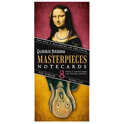 Masterpieces of Art Card Set - 8 Die Cut Silhouette Cards Cards With Envelopes, and 4 Sticker Sheets - The Kiss, Degas' Ballerina, The Mona Lisa, and the Scream : Books : Office Products