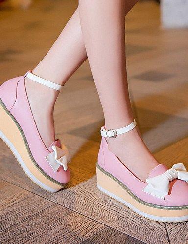 PDX/ Damenschuhe - High Heels / Ballerinas / Halbschuhe - Outddor / Kleid / Lässig - Kunstleder - Plateau - Wedges / Plateau - Rosa / Beige , beige-us4-4.5 / eu34 / uk2-2.5 / cn33 , beige-us4-4.5 / eu
