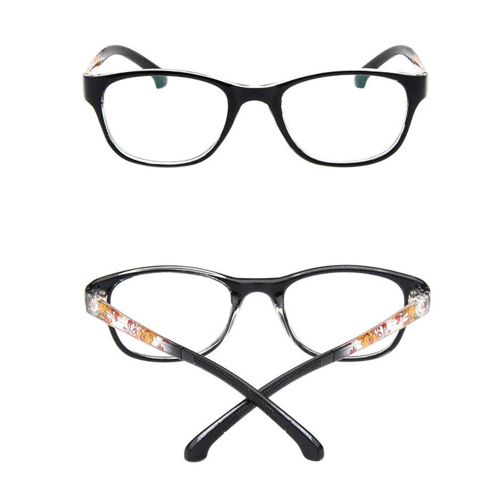 Fuyingda Ni/ños Ni/ñas Anteojos de miop/ía /óptica borde completo cl/ásicos Monturas de gafas Marco Lentes lente clara