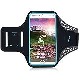 Brazalete del teléfono celular con toque de huella dactilar, Brazalete del teléfono de la cubierta del caso para correr Ejercicio de ejercicios de gimnasia para iPhone X / 8/7 / 6S / 6 Plus / 5, Galaxy S8 / S7 / S6, Google Pixel (5.5'')