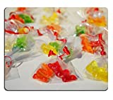 Luxlady Mousepad Gummi Bears Packed Sachets Natural Rubber Material Image 318390