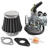 atv 125cc carburetor - GOOFIT PZ19 Carburetor with Air Filter Cable Choke for 50cc 70cc 90cc 110cc 125cc Chinese ATV Quad Go-kart
