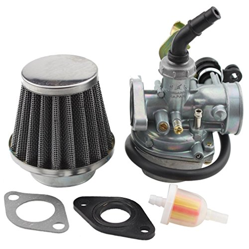 GOOFIT PZ19 Carburetor with Air Filter Cable Choke for 50cc 70cc 90cc 110cc 125cc Chinese ATV Quad (Bmx Atv)
