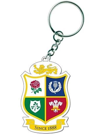 British   Irish Lions Rugby 3D PVC Shield Key Ring  white  3d9d0636e