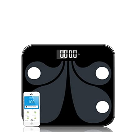 PLYY Báscula de baño Digital Bluetooth Smart Scale-Body Composition, BMI, Grasa Corporal
