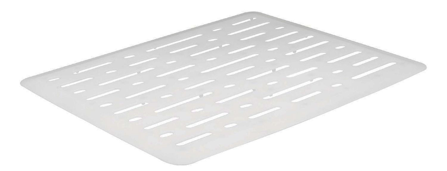 Rubbermaid Evolution Sink Mat, Small, White FG1G1706WHT by Rubbermaid