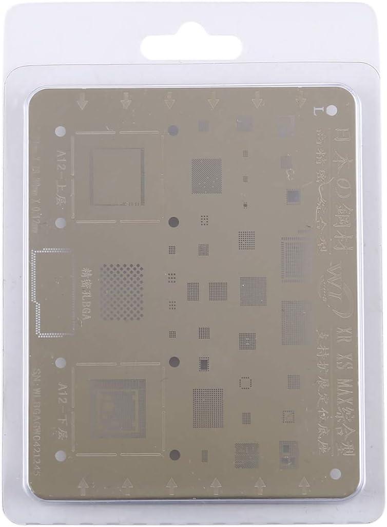 Hyx Repair Tool Plant Tin Plate Mesh BGA Stencil for iPhone XR//XS//Max