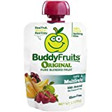 Buddy Fruits Pure Blended Fruit To Go, Multifruit and Apple, 3.2 Ounce Packages (Pack of 18)