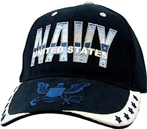 US Navy Presidential Seal Stars Embroidery Hat - Navy Buckle Closure Cap