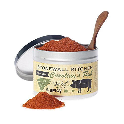 Stonewall Kitchen Carolina's Rub,Sweet & Spicy, 4 Ounce Tin (Baskets Gift Southern)