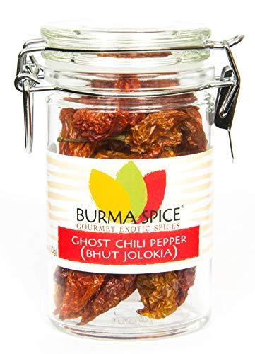 Ghost Pepper : Naga Bhut Jolokia : Dried, Whole Hot Pepper (0.4 oz)