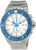 Invicta Men's 12310 Pro Diver Chronograph White Textured Dial Stainless Steel Watch, Watch Central
