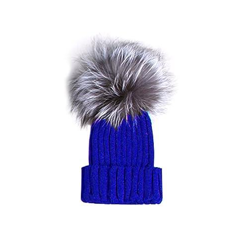 Tinksky Elegante mujeres sombreros de invierno de moda Crotchet Knit Beanie Cap sombrero caliente co...