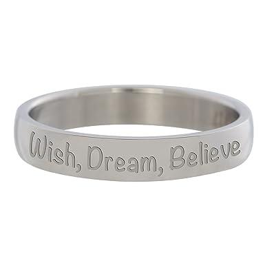 Ixxxi Remplissage Bague En Argent Wish Dream Believe 4 Mm