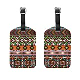 FunnyCustom Luggage Tag Paisley Africa Culture Travel Accessories