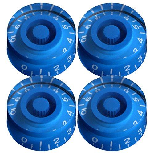 MonkeyJack 4 Pieces Blue Speed Volume Tone Guitar Control Knobs Fits Les Paul Guitar Parts