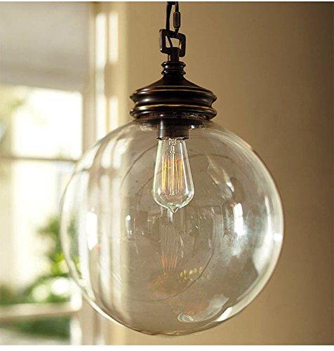 FUMIMID-Palla vintage Lampadario vetro Lampadario vetro Lampadario Lampadario minimalista creativo negozio casa navate 300 (mm) FUMIMIF