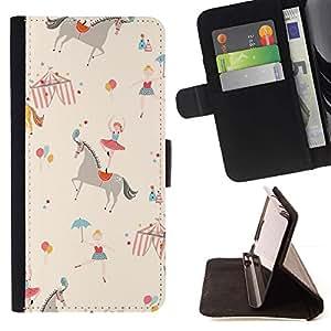 Momo Phone Case / Flip Funda de Cuero Case Cover - Ballerine enfants Retro Beige - Sony Xperia Z5 Compact Z5 Mini (Not for Normal Z5)