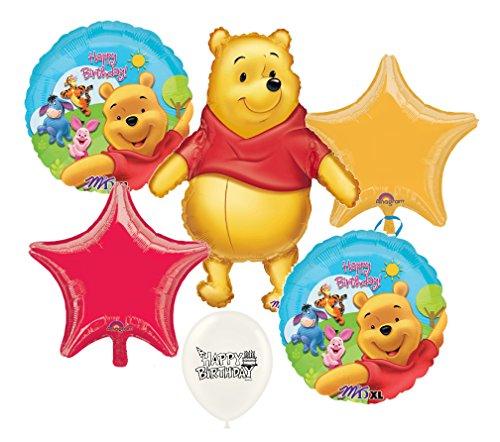 (Winnie the Pooh Birthday Balloon Bouquet Bundle )