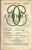 img - for CRITIQUE, AOUT/SEPTEMBRE 1967, N 243/244,ESTHETIQUE DE BAUDELAIRE, CARACTERE SINGULIER DE CETTE EAU, ACCORD DE LA TERRE ET DU CIEL, COROT A ROME, HOLDERLIN ET PHILOSOPHIE D'APRES HYPERION, ECONOMISTE EN VILLE, POESIE, CHANSON DE BERANGER A VERLAINE book / textbook / text book