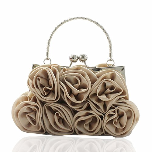 Fleurs Rose De Satin Banquet Du Soir 14 Rose Robes De Banquet Sac Robe Sac Robes De Couleur Sac De Mariée, Couleur Champagne Argenté