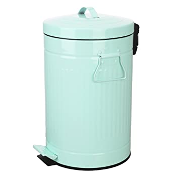 Amazoncom Mint Green Trash Can With Lid Turquoise Bathroom And