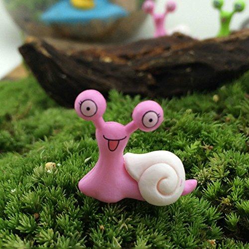 Lovt VOOYE Miniature Fairy Garden Snails Planter Flower Pot Yard Outdoor Decor Summer 2cm2cm Color Random(0.79 x 0.79inch)