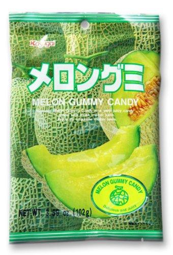 Japanese Fruit Gummy Candy from Kasugai - Melon - 102g