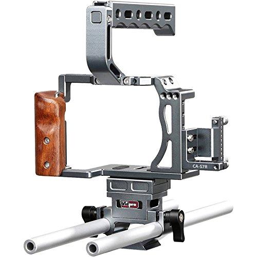 Vidpro CA-S7R Aluminum Camera Video Cage Rig for Sony Alpha A7 Series fits A7, A7 II, A7S, A7S II, A7R & A7R II Digital ()