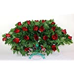 Crazyboutdeco-XL-Classic-Red-Roses-Cemetery-Tombstone-Saddle-Arrangement