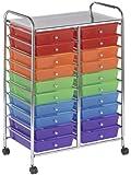 ECR4Kids 20-Drawer Mobile Organizer, Assorted Colors